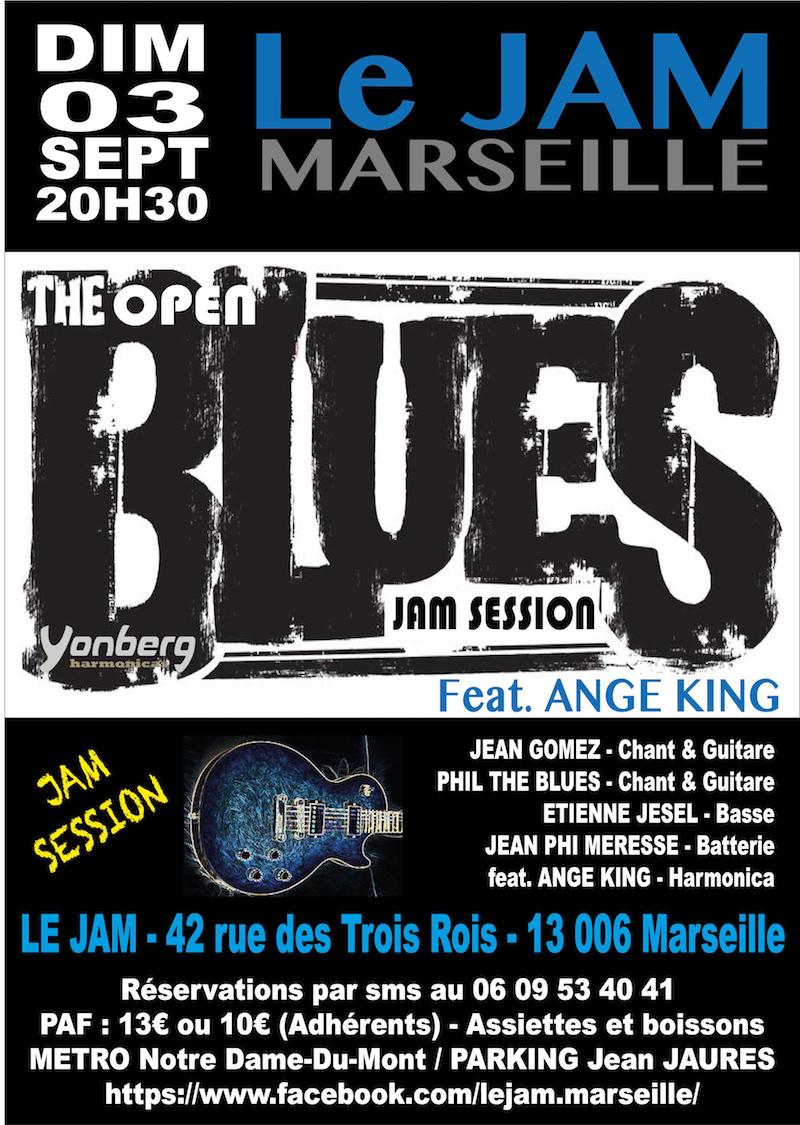 DIM 03 SEPT 2017 – OPEN BLUES JAM SESSION (Blues) · Le Jam Marseille