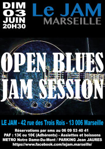 OPEN BLUES JAM SESSION 06 MAI 2018
